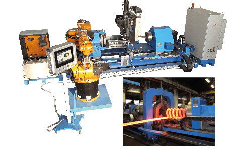 lathe hot spring coiling machine